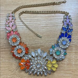BaubleBar Rainbow Rhinestone Necklace